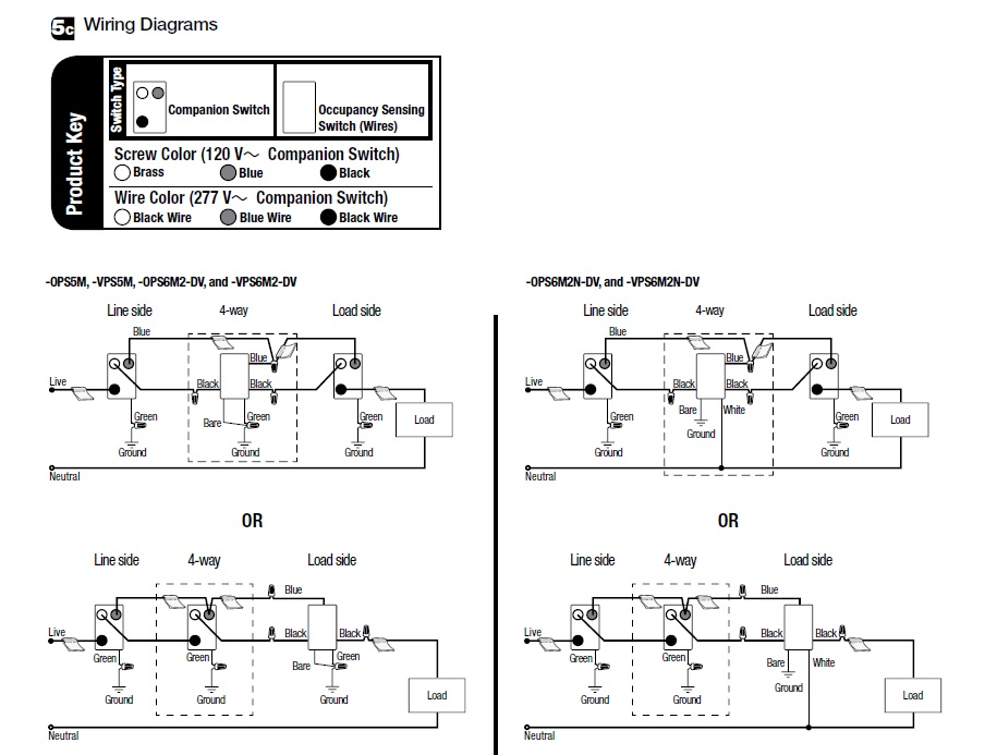 Lutron electrical how can i replace a 4 way mechanical switch with ceiling mount occupancy sensor wiring diagram at bayanpartner.co